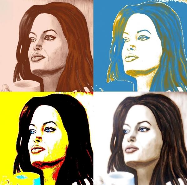 Angelina Jolie por Nihale
